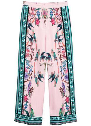 Шикарные красочные  брюки из смесового льна h&m