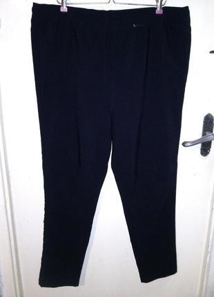 Стрейч,классные,угольно-чёрные,зауженные брюки,большого размера,okay,myanmar