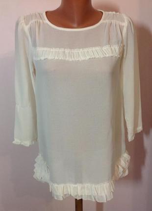 Gap- m/ молочная классная блузка .