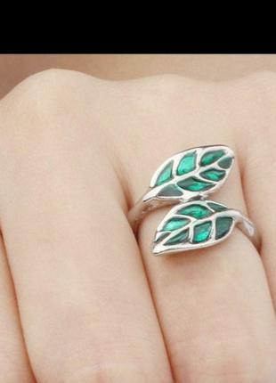 Очень милое и красивое кольцо листок листочек колечко на фаланги