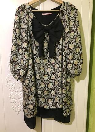 Шелковое платье fornarina 100% шёлк