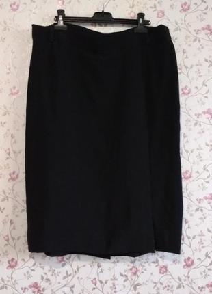 4xl-5xl базовая черная юбка миди !