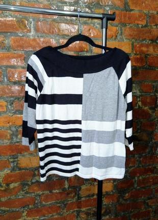 Джемпер свитер кофточка в ассиметричную полоску next