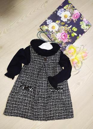 Платье + блузка для девочки 12-18 месяцев.
