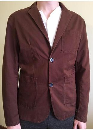 Пиджак мужской, піджак коричневий.
