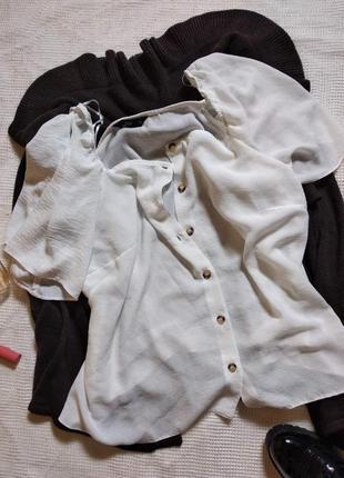 Белая блуза большого размера f&f (22р.)
