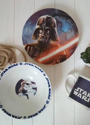 Набор детской посуды звездные войны № 3 (керамика)  3в1