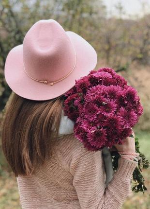 Шляпа федора фетровая