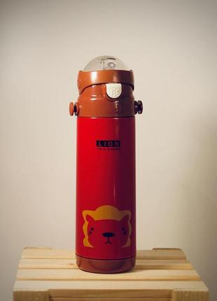 Термос stenson ss mt-2086 (красный лев) 350мл