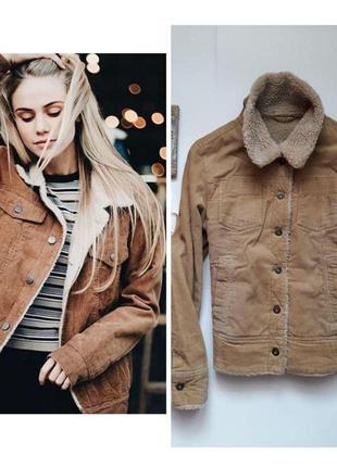 🌿  крута вільветова утеплена курточка bay