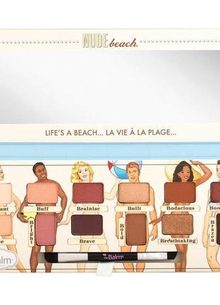 Тени thebalm nude beach palette