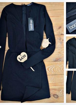 Ромпер !розпродаж!!boohoo с рукавами платье с открытым вырезом (ромпер з рукавами)