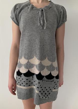 Плаття тепле, вязане плаття, туника.