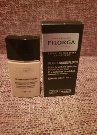 Тональная основа filorga flash nude fluid оттенок 00 nude ivory