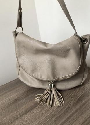Стильная фактурная сумка из кожзама