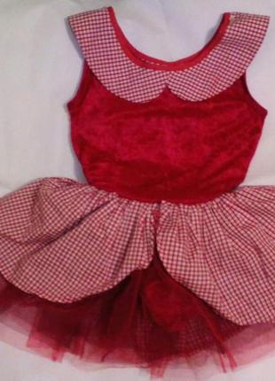 Купальник платье для танцев на 9-11 лет