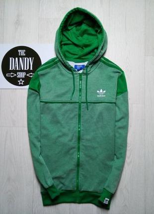 Зеленая олимпийка, худи ф. adidas, размер м