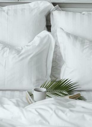 Постільна білизна постіль страйп сатин постельное белье