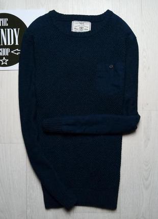 Синий свитерок с нашивками ф. next, размер м
