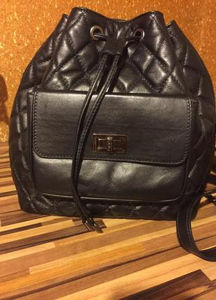 Рюкзак кажаный стеганый