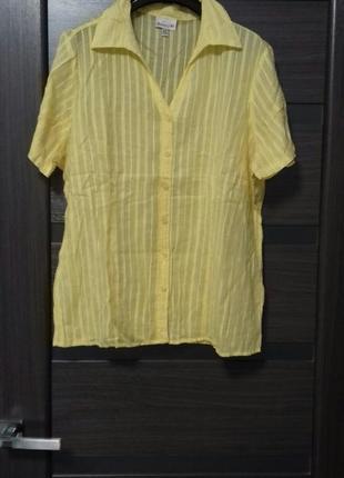 Блуза рубаха батистовая размер 42