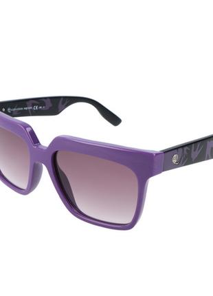 Новые солнцезащитные очки alexander mcqueen фиолетовые с ласточками