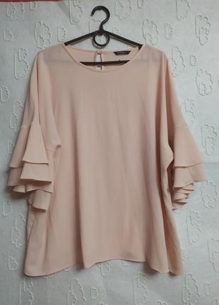 Стильная блуза с воланами