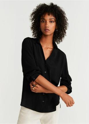 Mango / блузка с завязками на рукавах и спине