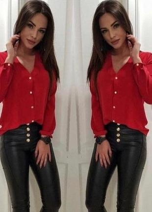 Красная блузка рубашка софт
