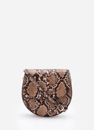 Новая стильная маленькая сумка сумочка в змеиный принт