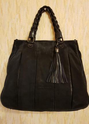 Бомбезная, комбинированная (кожа +замша) сумка coccinelle! италия!