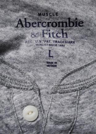 Мужская футболка серая меланж мягкая abercrombie&fitch l