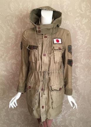 Superdry оригинал парка куртка плащ хаки в стиле милитари