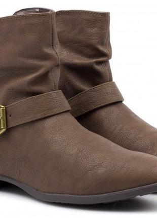 Темно-коричневые ботинки plato
