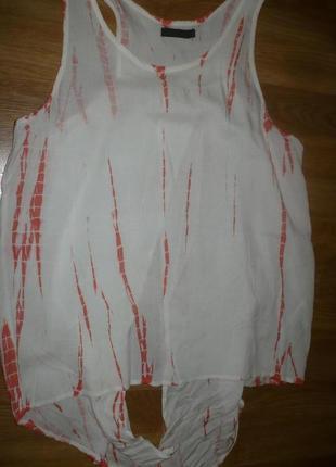 Блузка майка летняя хлопковая тоненькая s индия