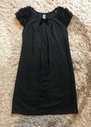 Чёрное платье сарафан zara, рост 150-165 см
