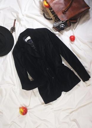 Базовый бархатный пиджак американского бренда