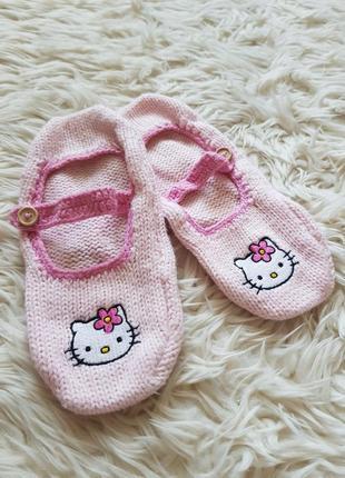 Тканинні тапочки hello kitty/тканевые тапочки hello kitty розовые