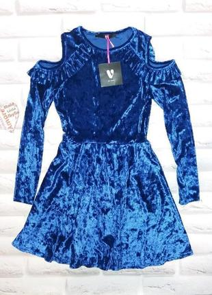 Велюровое шикарное платье 12л by very