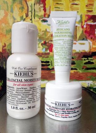 Набор на зимний период для всех типов кожи- флюид, ночная маска, маска с авокадо kiehls