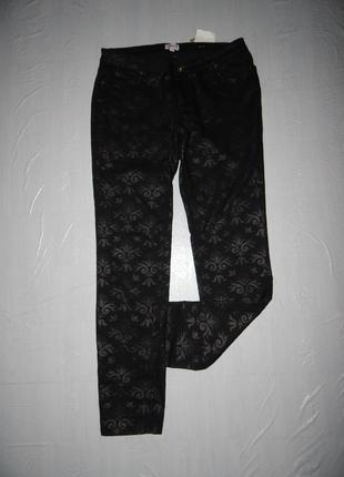 L джинсы скинни laura фантазийные новые с биркой!