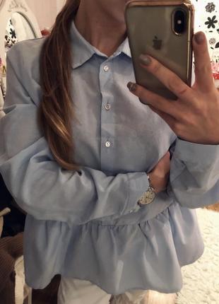 Рубашка, блуза, блузка с рюшем