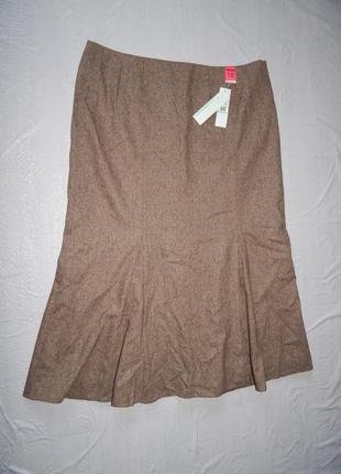 Поб 56-58, новая юбка с шерстью годе макси matalan, великобритания