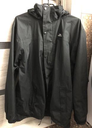 Ветровка чёрная куртка парка мужская штурмовку мембранная  черная