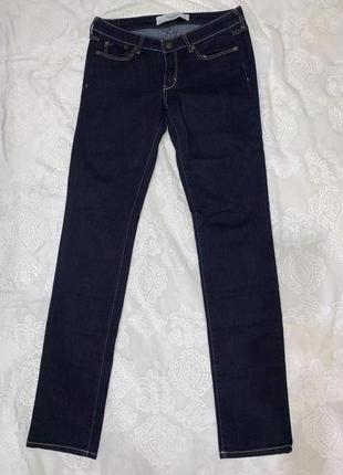 Темно-синие джинсы  a&f