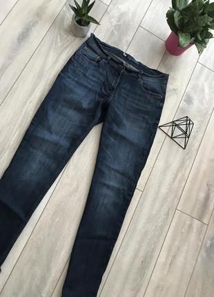 Женские темно-синие джинсы бойфренды