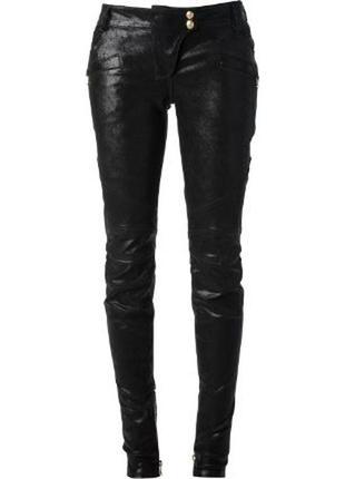 Balmain оригинал кожаные брюки