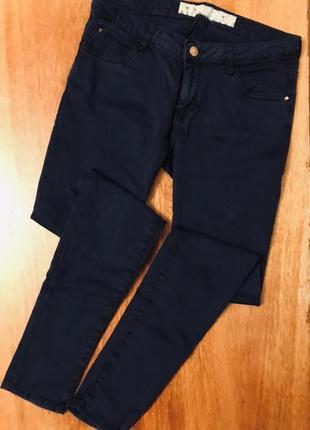 Крутые темно синие джинсы скинни джеггинсы