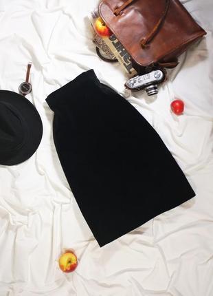 Винтажная юбка миди из качественного бархата (ретро, винтаж)
