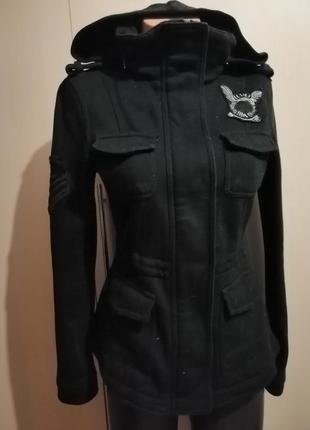 Куртка милитари с капюшоном
